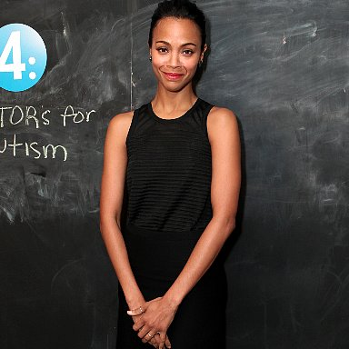 Celebrity Style, Zoe Saldana In Calvin Klein & Pointed Pumps