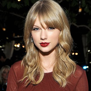 Taylor Swift's Dark Red Lipstick 2013