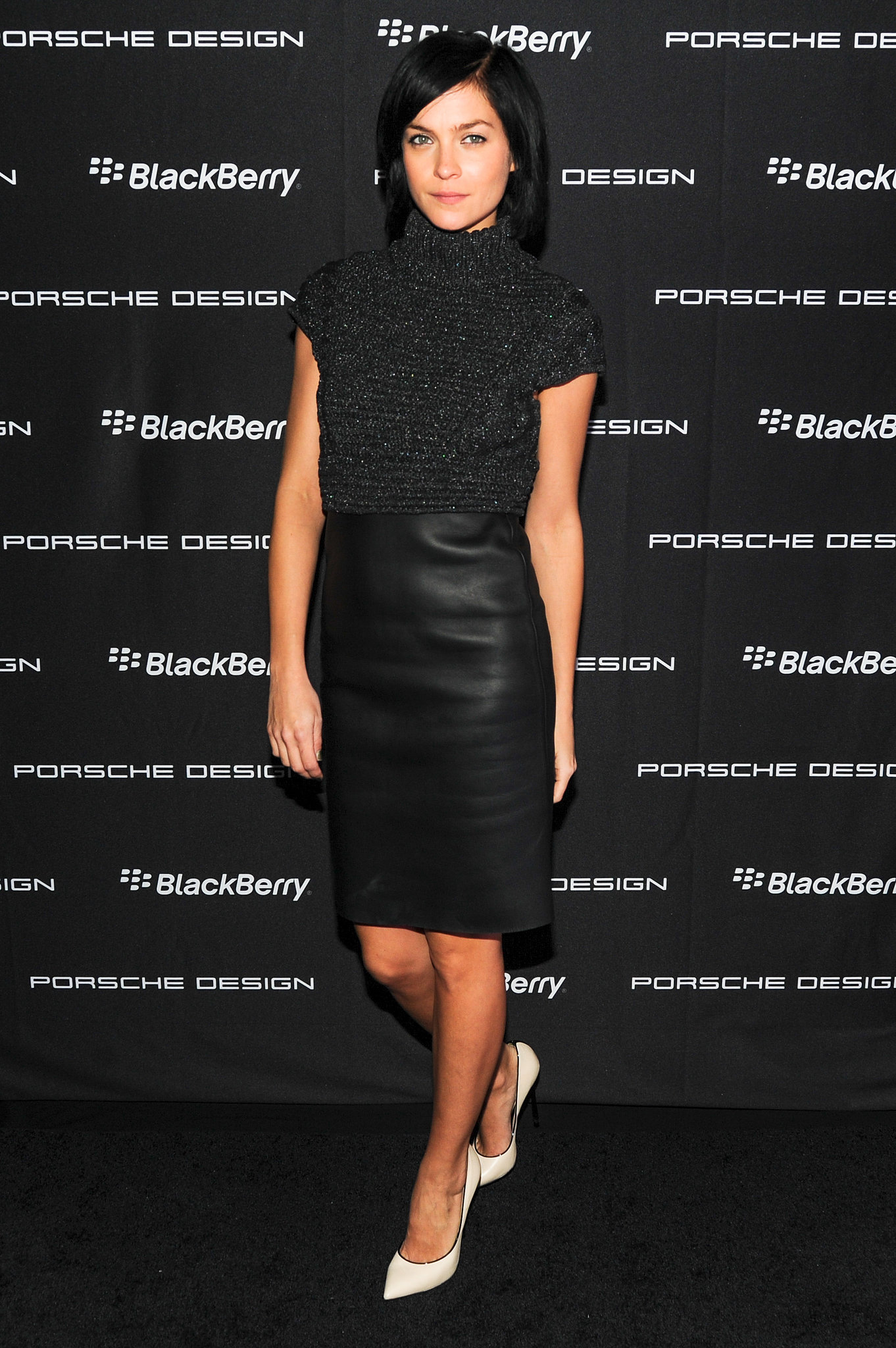 Leigh Lezark at the Porsche Design BlackBerry launch party.