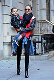 Miranda Kerr coordinated with her cute little one, Flynn, during the pair's Big Apple outing.