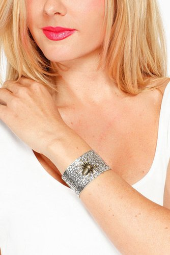 Embellished Spider Web Bangle