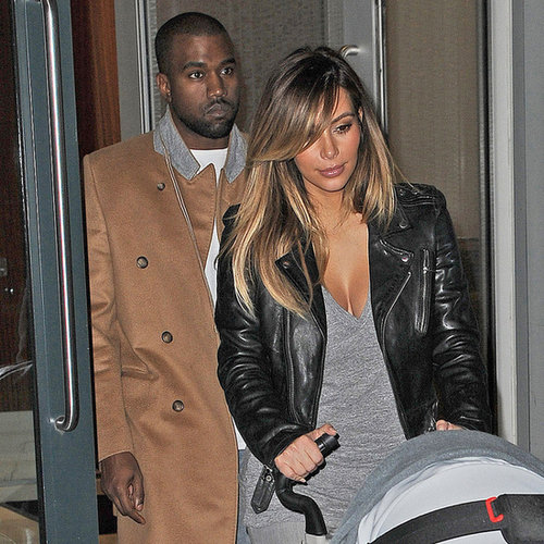 Kim Kardashian and Kanye West With North in NYC