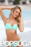 Candice Swanepoel modeled bikinis in St. Barts.