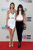Kendall and Kylie Jenner arrived at the 2013 American Music Awards.