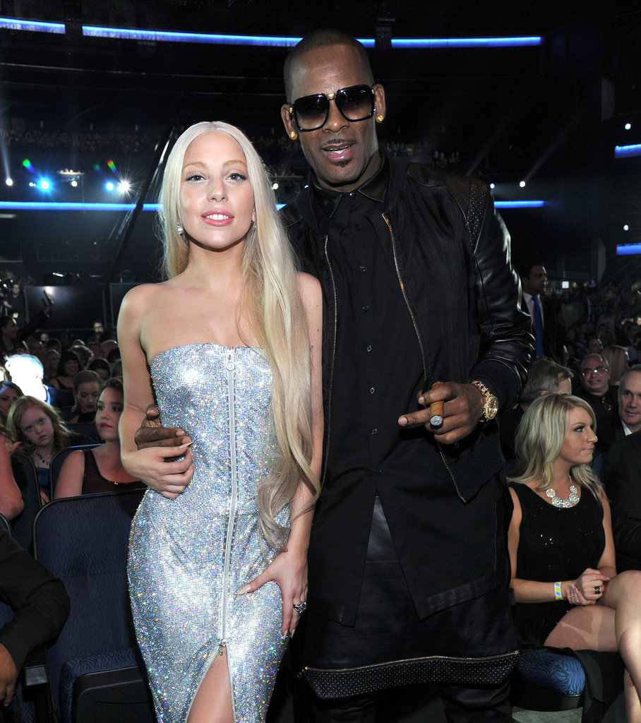 Lady Gaga attended the American Music Awards and posed alongside R Kelly.