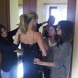 Heidi Klum had a whole beauty team to help her prepare for the evening.  Source: Instagram user heidiklum