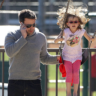 Jennifer Garner at the Park With Samuel and Seraphina