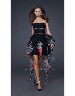 La Femme 16289 Black Dresses for Homecoming