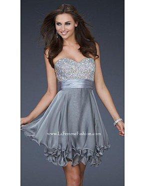 La Femme 16541 Platinum Dresses for Homecoming
