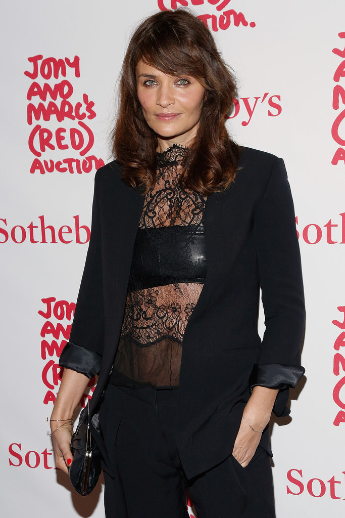 Helena Christensen at the (RED) Auction Celebrating Masterworks of Design and Innovation.