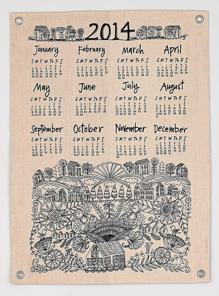 The Land of Nod Jute Calendar