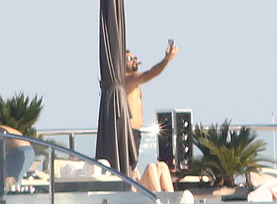Leonardo DiCaprio took a shirtless selfie while yachting in Italy in May.