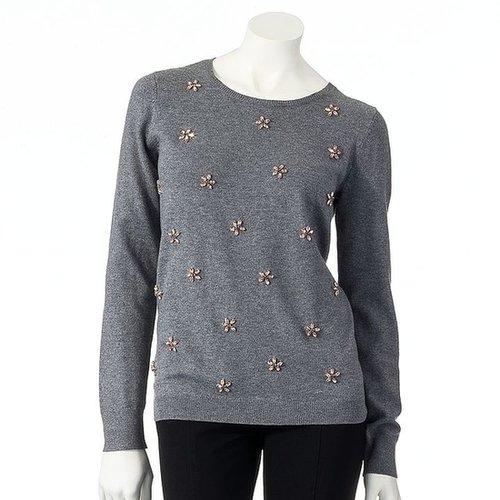 Elle TM embellished sweater
