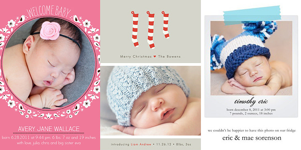 Beautiful Birth Announcement Holiday Cards