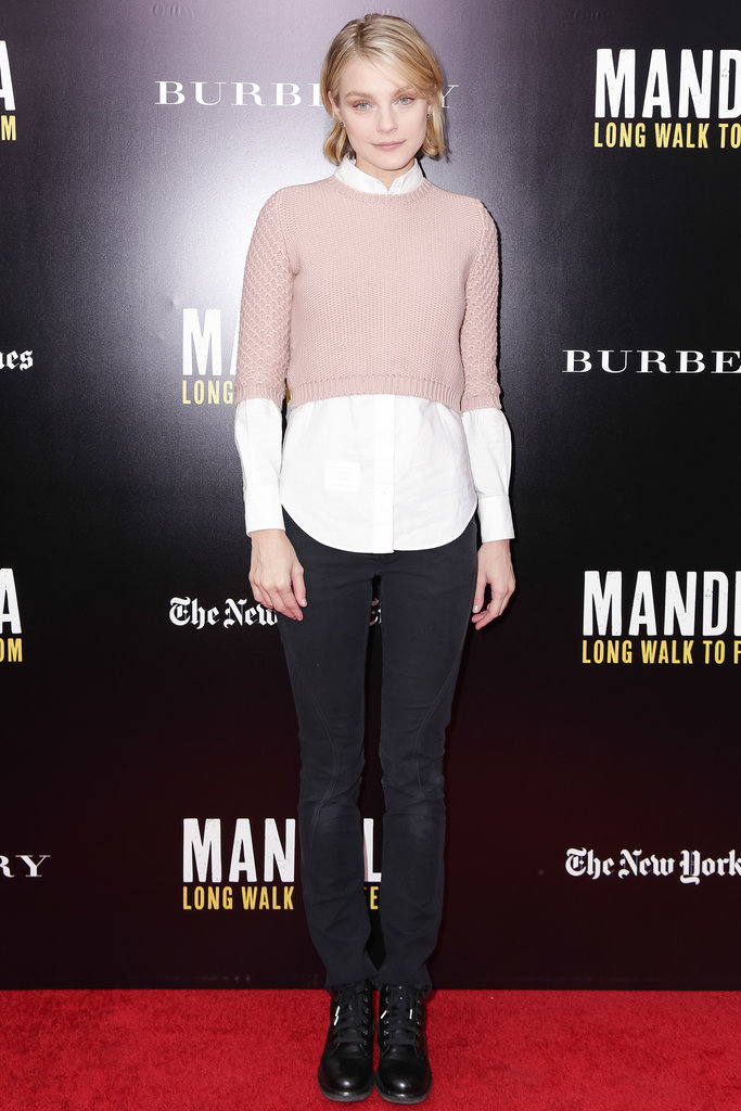 Jessica Stam at a screening of Mandela: Long Walk to Freedom.