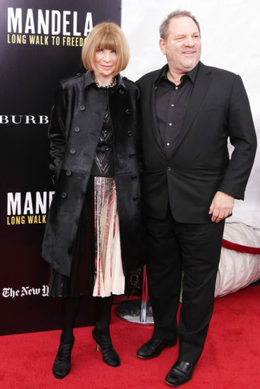 Anna Wintour and Harvey Weinstein at a screening of Mandela: Long Walk to Freedom.