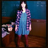 Nothing says Fall like a little plaid on plaid — just ask Zooey Deschanel.  Source: Instagram user zooeydeschanel