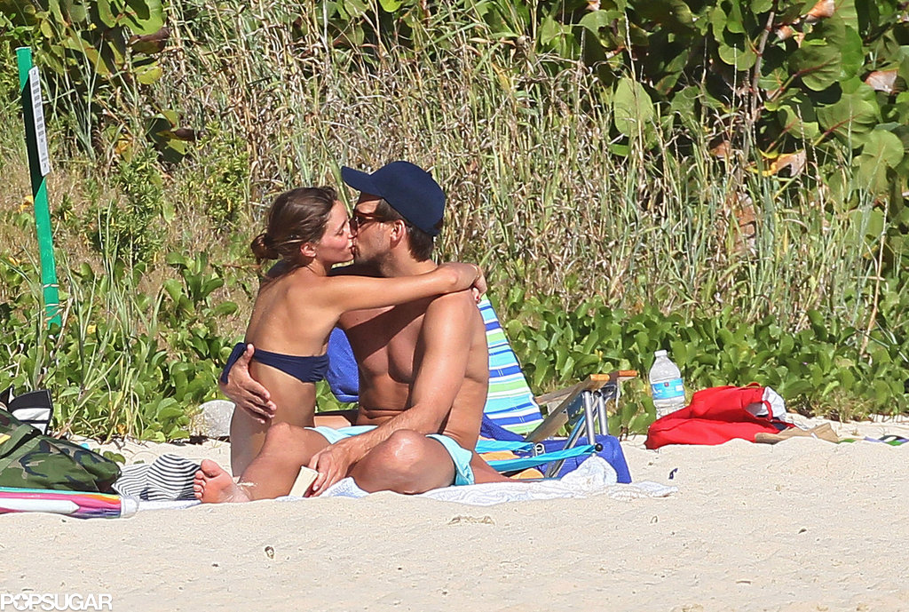 Olivia Palermo and Johannes Huebl shared a smooch in January during a trip to St. Barts.