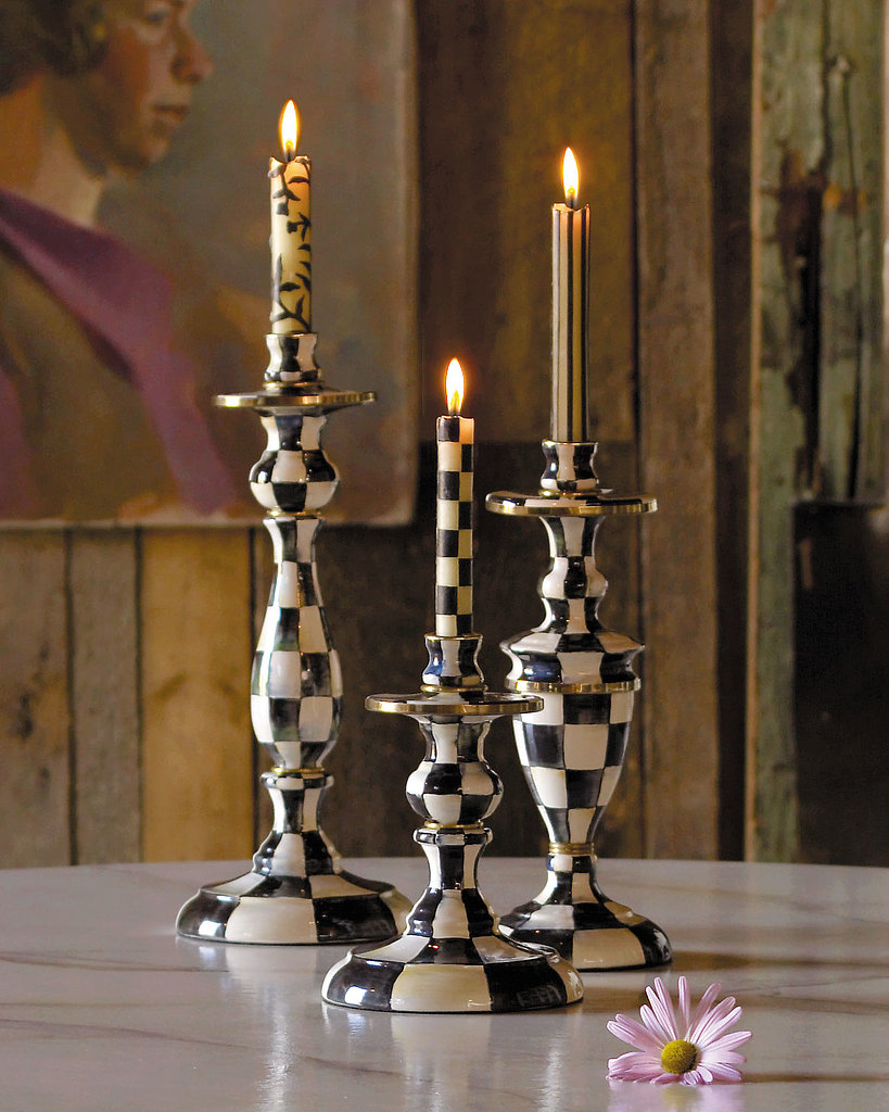 MacKenzie-Childs Courtly Check Candlesticks ($80-$110 each) kind of make me feel like Alice at the tea party in Wonderland, but not in a bad way. They're classic with a bit of whimsy, and I love the idea of combining them with patterned candlesticks. Total statement pieces for a kitchen island or dining room table! — Maggie Pehanick, assistant editor