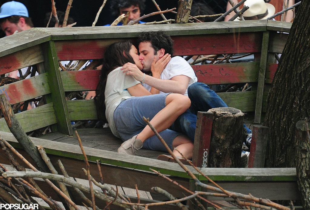 In May, Katie Holmes shared a steamy smooch with Luke Kirby when they filmed a scene for Mania Days in NYC.