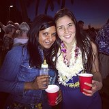 If the baby bottle and the multiple leis weren't enough of an indicator, Mindy Kaling looked like she had a wild time at a luau. Source: Instagram user mindykaling
