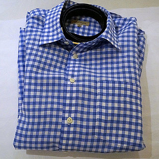 Avoid Flattening Collar in Collared Shirt With a Belt