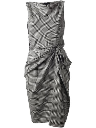Lanvin Gathered Checked Dress - Vitkac - Farfetch.com