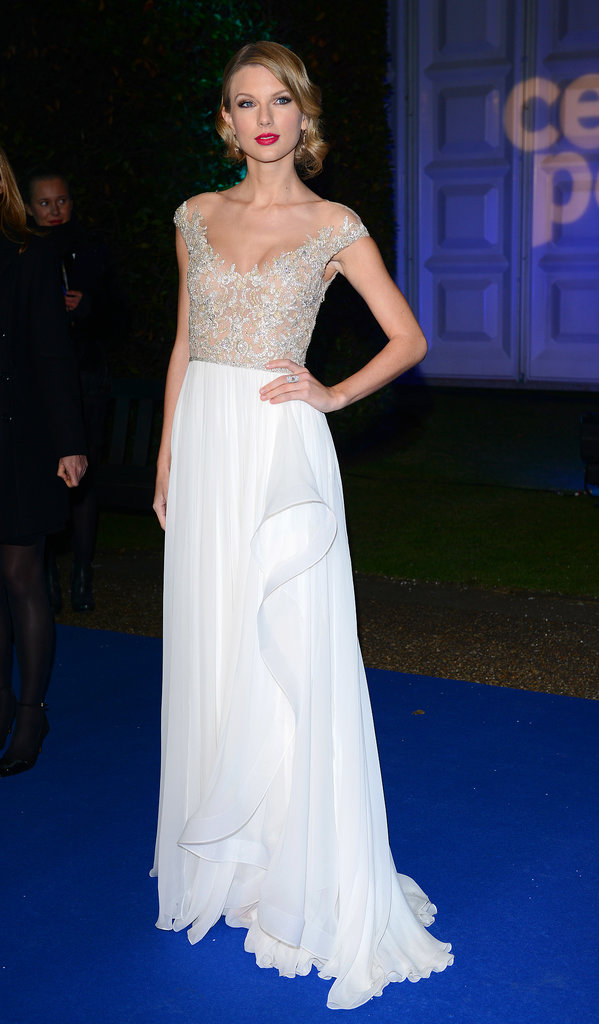 Taylor Swift at the Winter Whites Gala in London.