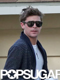 Zac Efron wore a key necklace. Source: 4CRNS/Gallo/FameFlynet