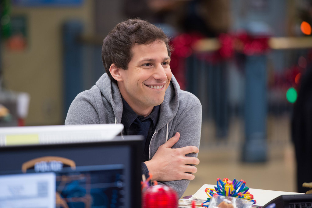 "Brooklyn Nine-Nine Jake (Andy Samberg) on Brooklyn Nine-Nine's holiday episode, ""Christmas,"" airing Dec. 3 on Fox."