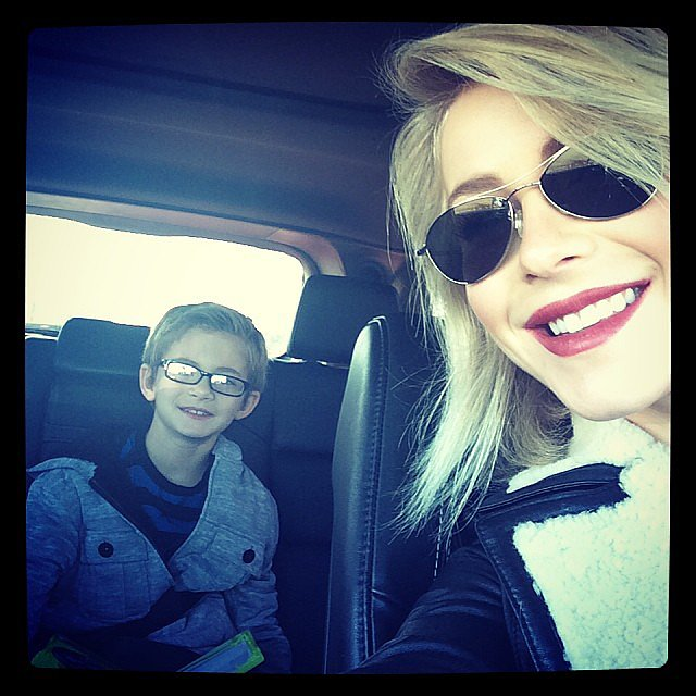 Julianne Hough was all smiles with her nephew in Nashville.  Source: Instagram user juleshough