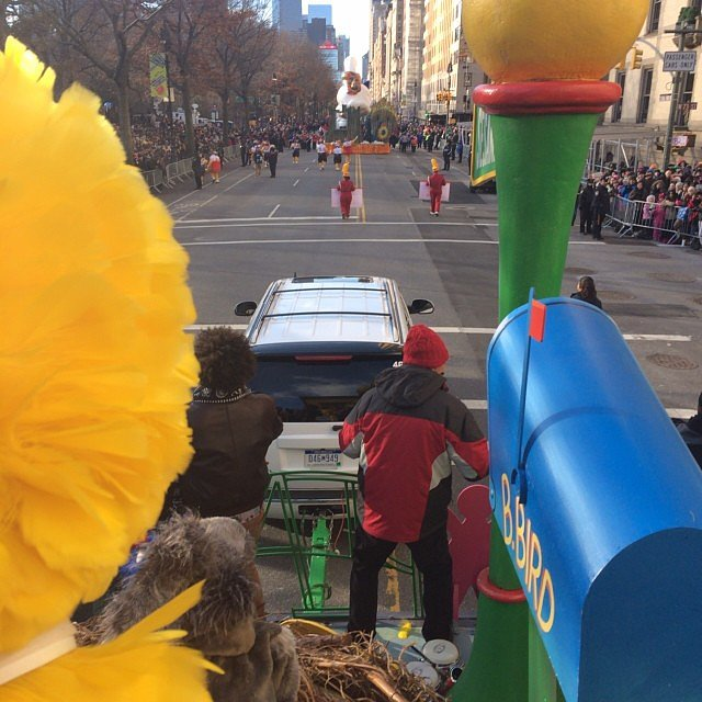 Jimmy Fallon shared his view from the Thanksgiving Day Parade in NYC. Source: Instagram user latenightwithjimmy