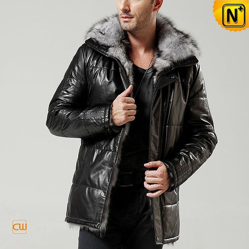 Mens Shearling Leather Jacket Coat CW848366