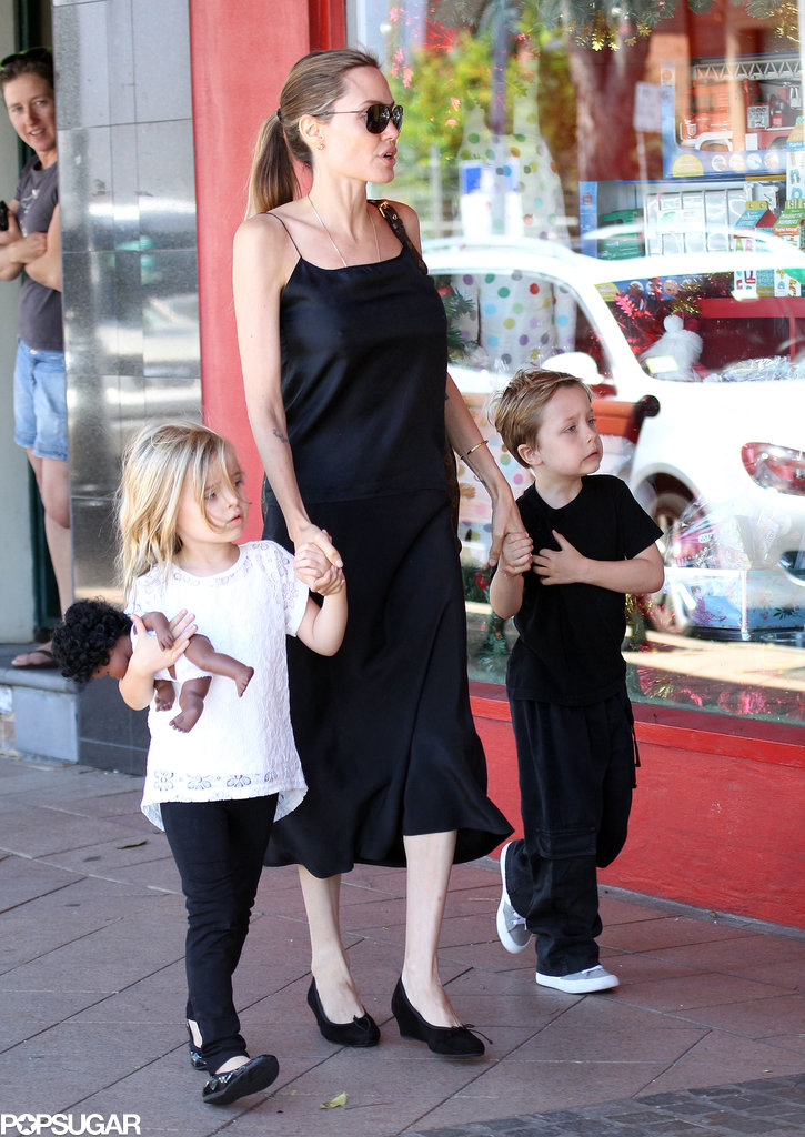 Angelina Jolie took a break from work to spend time with her twins, Knox and Vivienne, in Sydney, Australia.