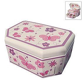 """Mele  Co Mele & Co. """"Kelsey"""" Girl's Glitter Fly Musical Ballerina Jewelry Box"""