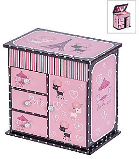 Mele  Co Mele & Co. Emmaline Parisian Poodle Girl's Musical Ballerina Jewelry Box