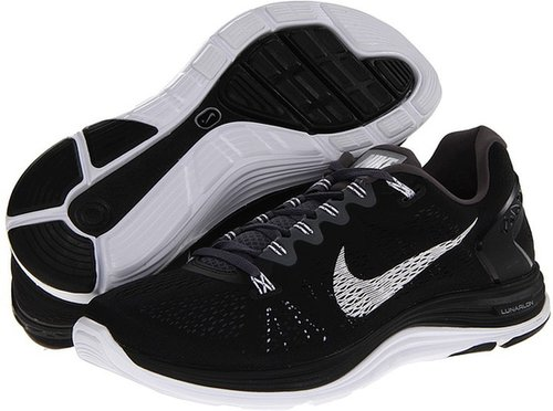 Nike - Lunarglide+ 5 (Black/Dark Grey/White) - Footwear