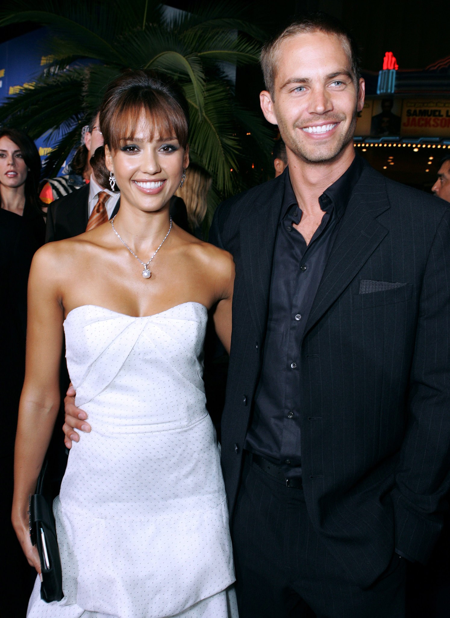 paul and jessica alba smiled for photos together at the la