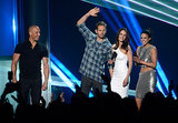 Paul Walker attended the MTV Movie Awards with Vin Diesel, Michelle Rodriguez, and Jordana Brewster in April 2013.
