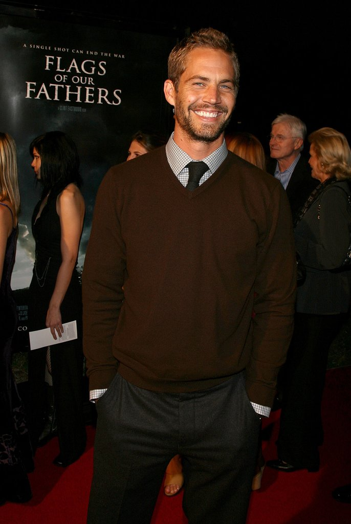Paul Walker walked the red carpet at the premiere of his film Flags of Our Fathers in LA in October 2006.