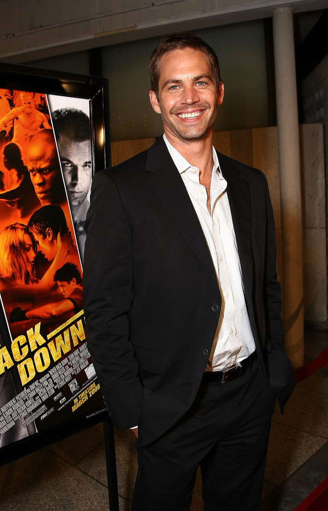 Paul Walker attended the LA premiere of Never Back Down in March 2008.
