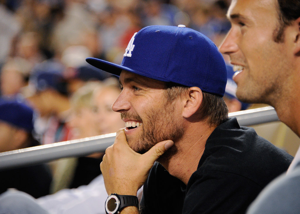 Paul Walker took in an LA Dodgers game in September 2011.