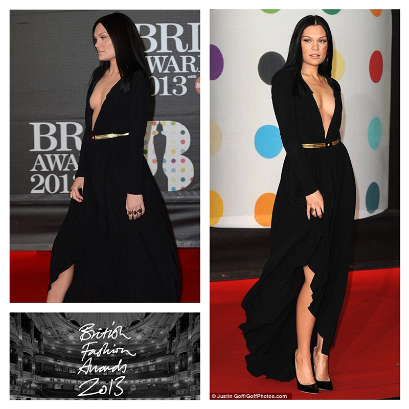 Jessie J British Fashion Awards 2013