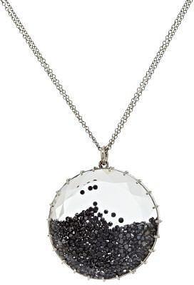 Renee Lewis White Gold & Black Diamond Shake Pendant Necklace