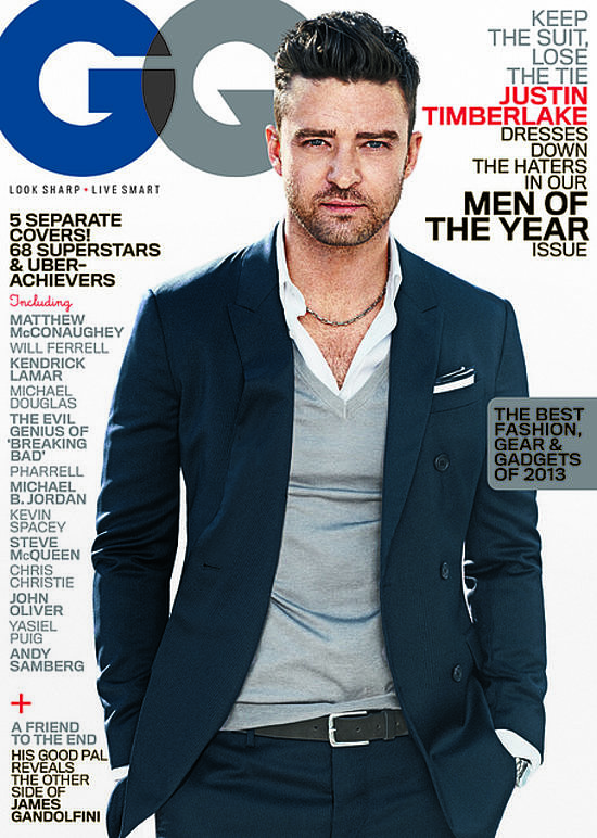 JT was named one of GQ's Men of the Year in mid-November. The triple threat graced one of five covers but was the only guy to earn the title #Hashtag of the Year. Source: Sebastian Kim/GQ