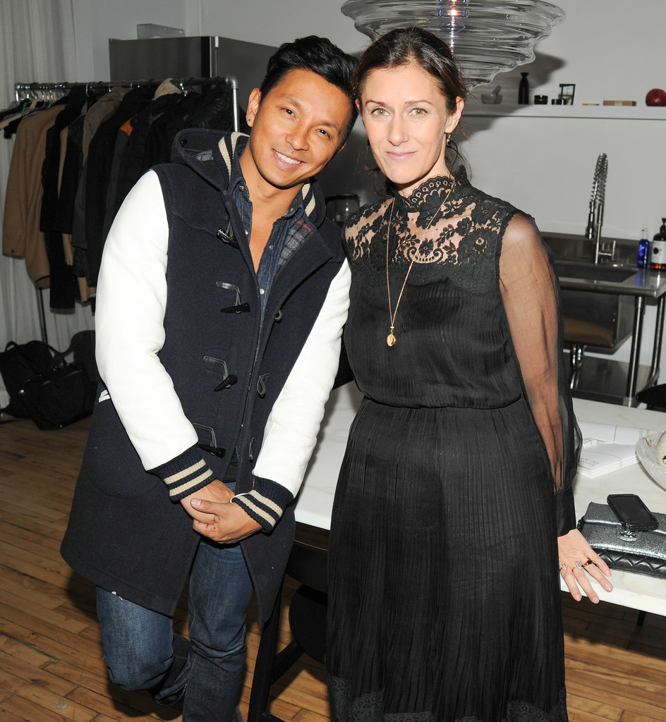 Prabal Gurung and Sally Singer at Paintings by Hanuk.