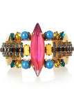 Erickson Beamon Aquarela Do Brasil Gold-Plated Swarovski Crystal Cuff ($255, originally $510)