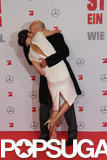 Bruce Willis gave Emma Heming a kiss during the February premiere of A Good Day to Die Hard in Berlin.