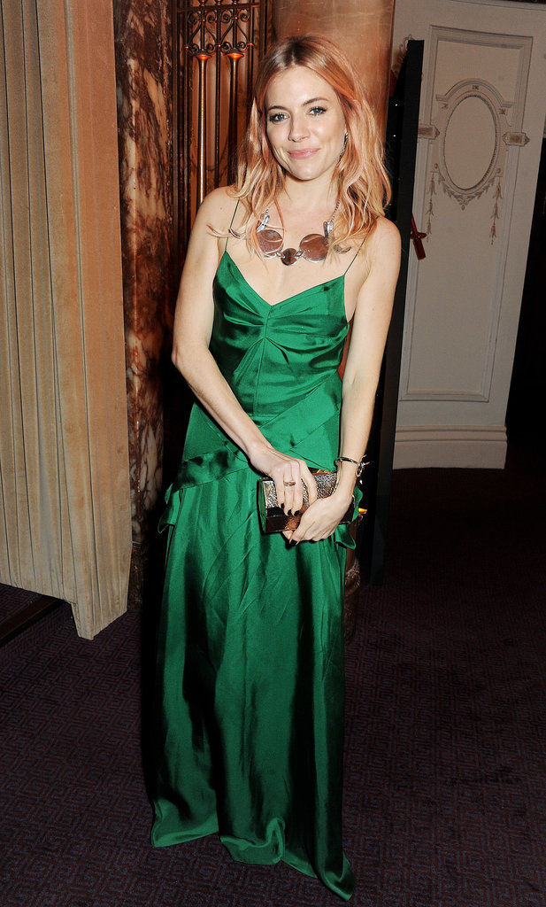 Sienna Miller wore Burberry. Source: Getty