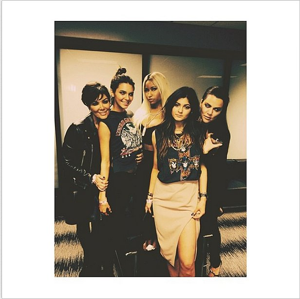 The Kardashian family added a new member to the clique: Nicki Minaj.  Source: Instagram user kyliejenner